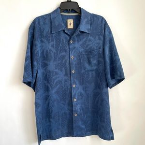 Jamaica Jaxx Blue Silk Hawaiian Shirt